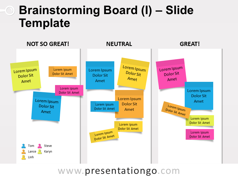 Free Brainstorming Board for PowerPoint Slide