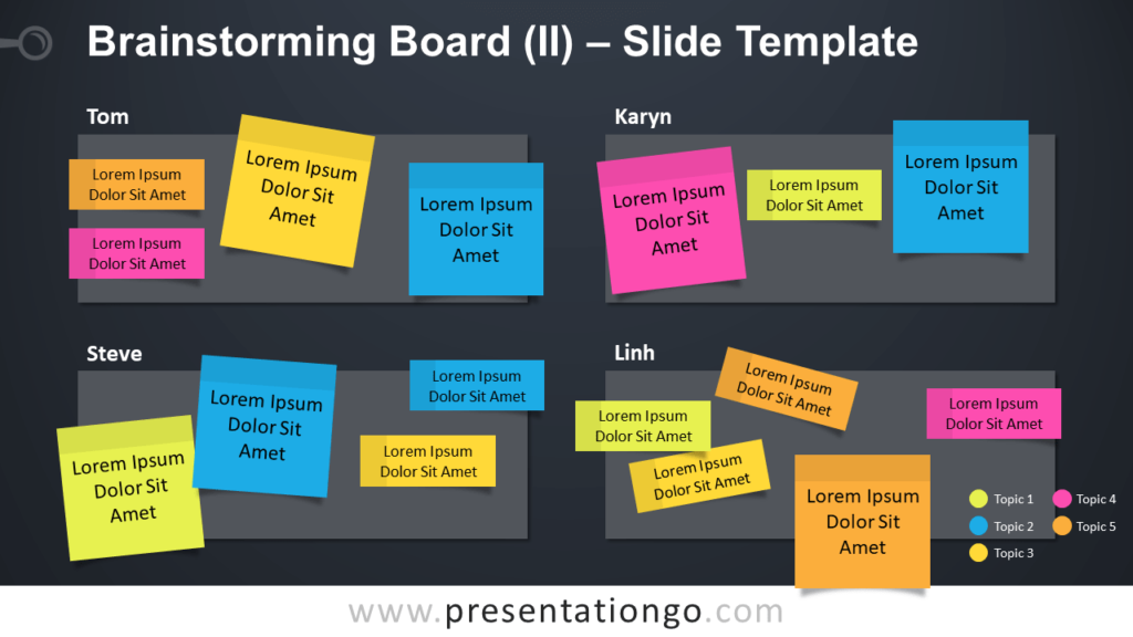 Free Brainstorming Board Table for PowerPoint and Google Slides