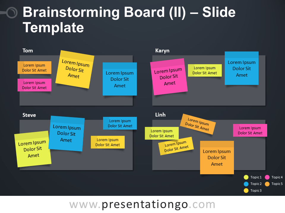 Free Brainstorming Board Table for PowerPoint