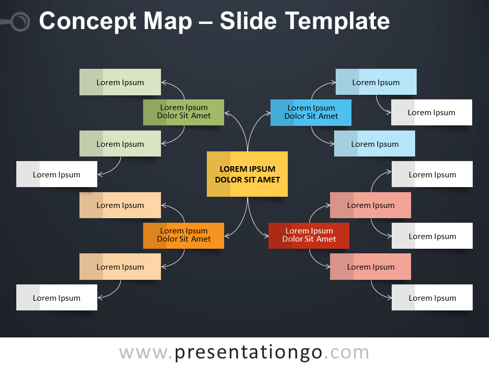 Free Concept Map Infographic for PowerPoint