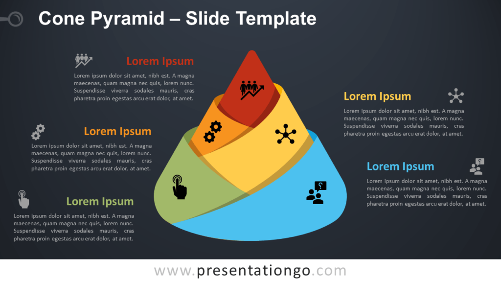 Free Cone Pyramid Diagram for PowerPoint and Google Slides