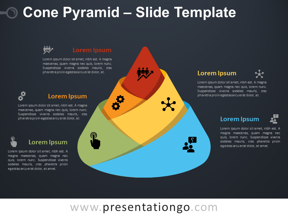 Free Cone Pyramid Diagram for PowerPoint