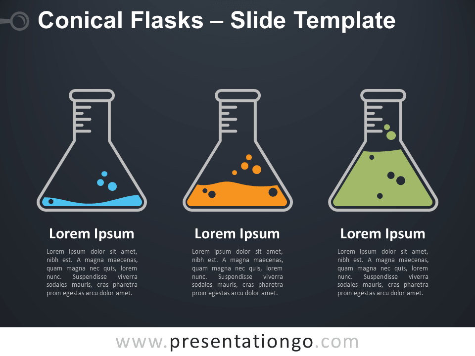Free Conical Flasks Infographic for PowerPoint