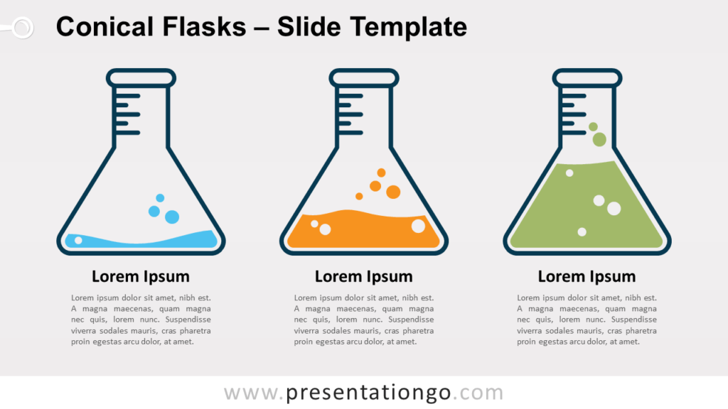 Free Conical Flasks for PowerPoint and Google Slides