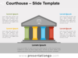 Free Courthouse Infographic for PowerPoint