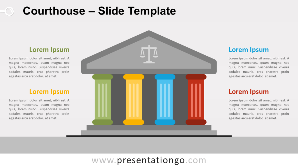 Free Courthouse Infographic for PowerPoint and Google Slides