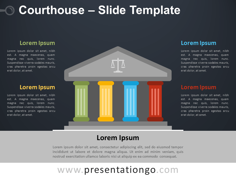 Free Courthouse Template for PowerPoint