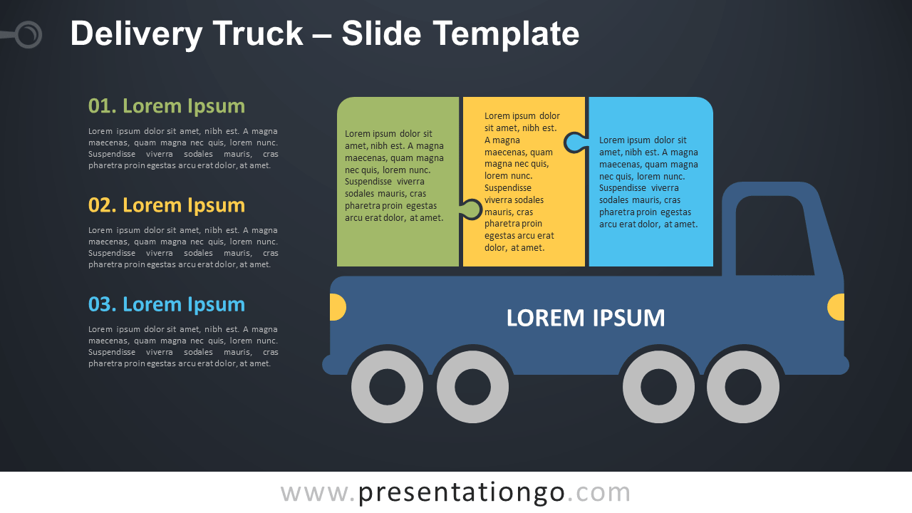 Free Delivery Truck Infographic for PowerPoint and Google Slides