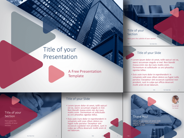 Free Finance & Business Template for Google Slides and PowerPoint