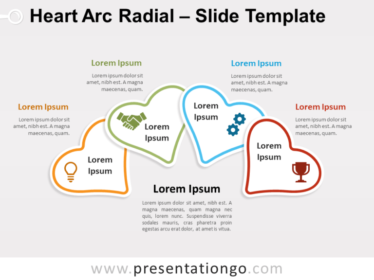 Free Heart Arc Radial for PowerPoint