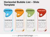 Free Horizontal Bubble List for PowerPoint