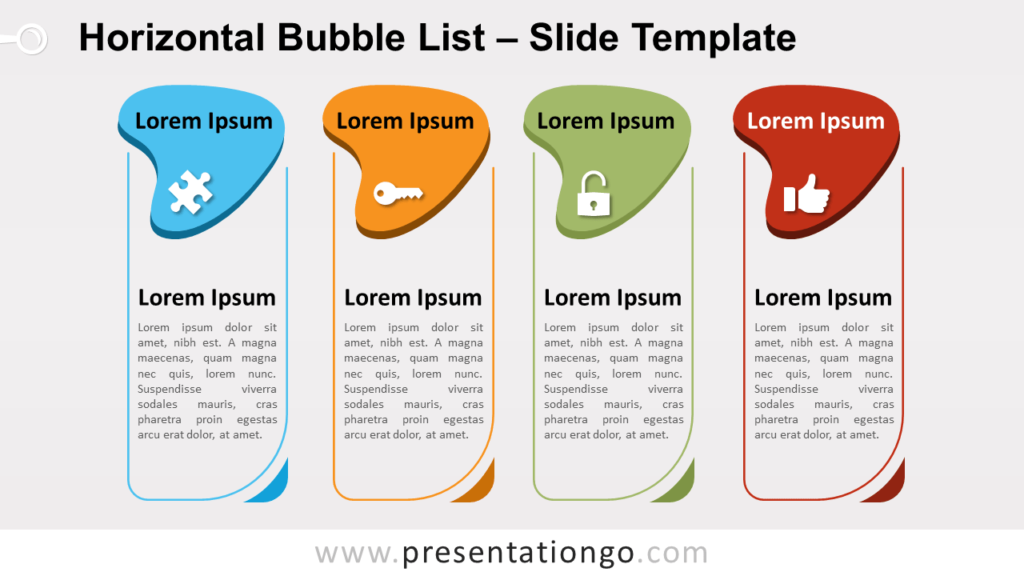 Free Horizontal Bubble List for PowerPoint and Google Slides