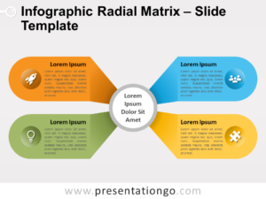 Free Infographic Radial Matrix Chart for PowerPoint
