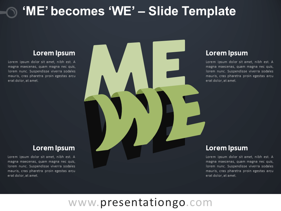 Free Me We Infographic for PowerPoint