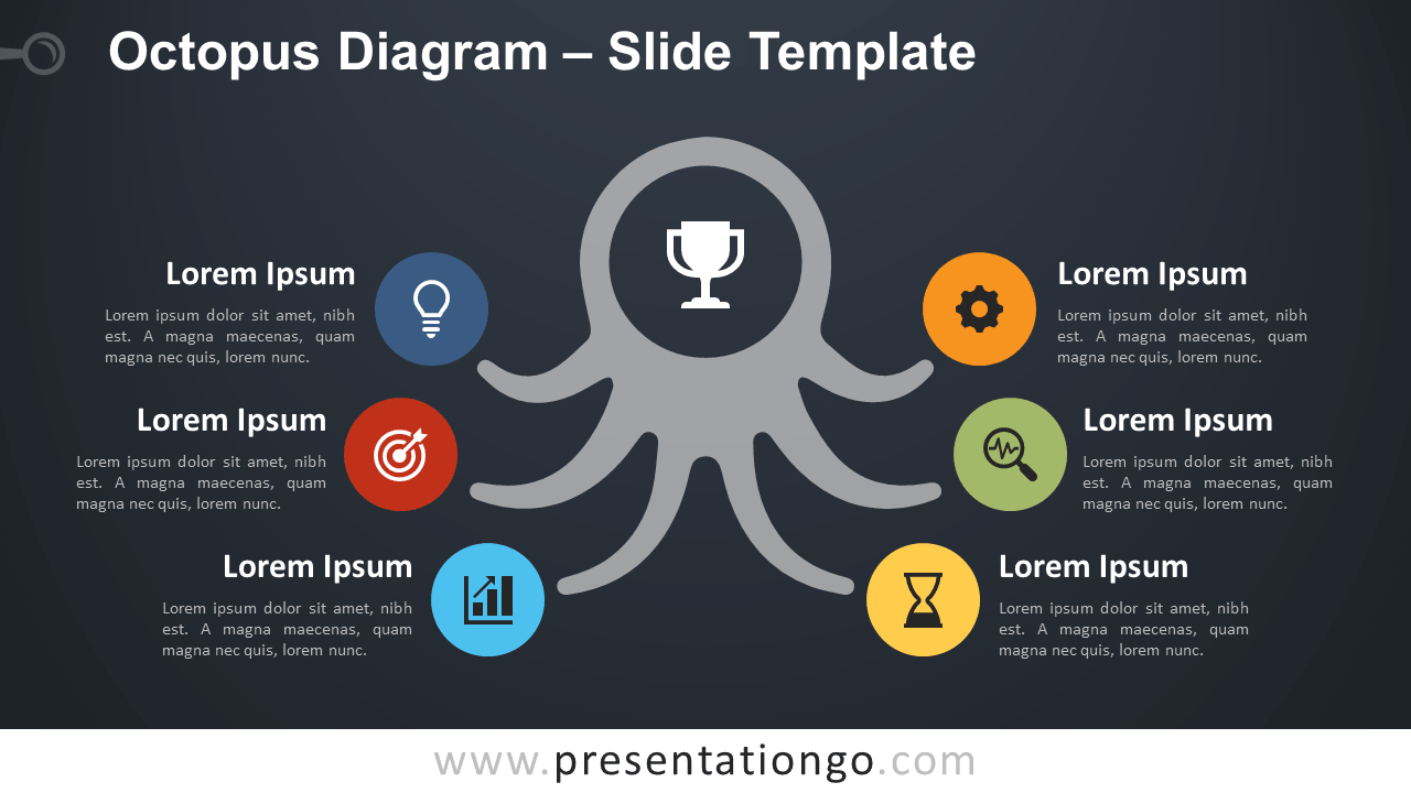 Free Octopus Diagram Template for PowerPoint and Google Slides
