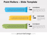 Free Paint Rollers Infographic for PowerPoint