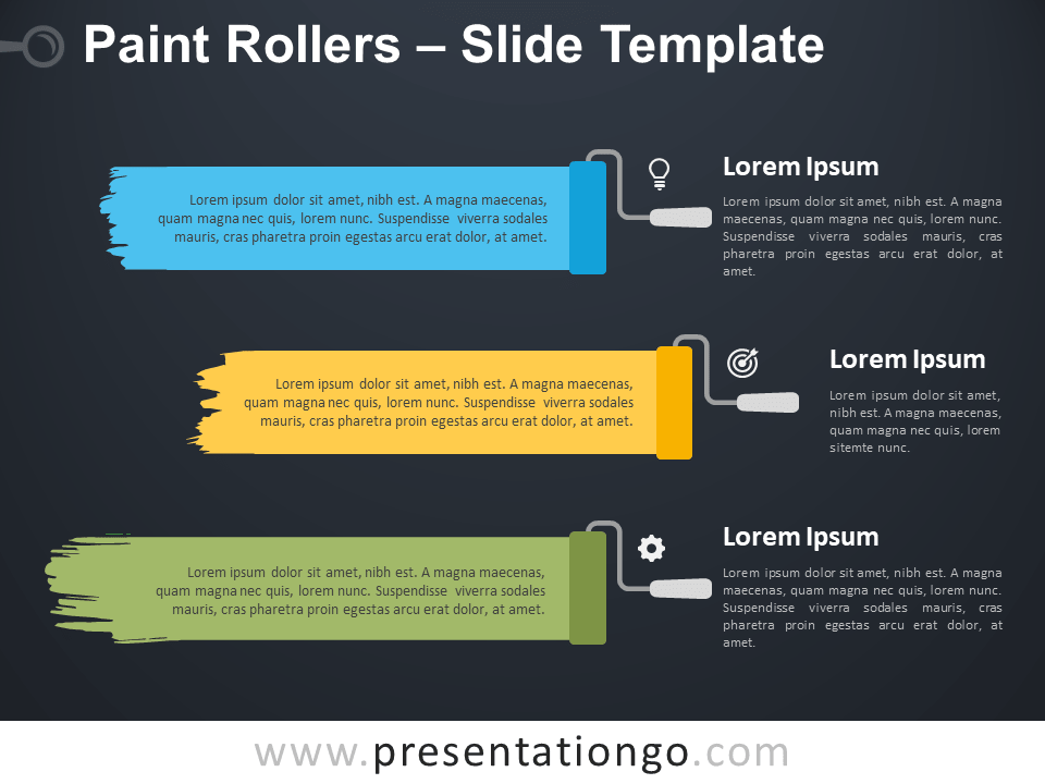 Free Paint Rollers Template for PowerPoint