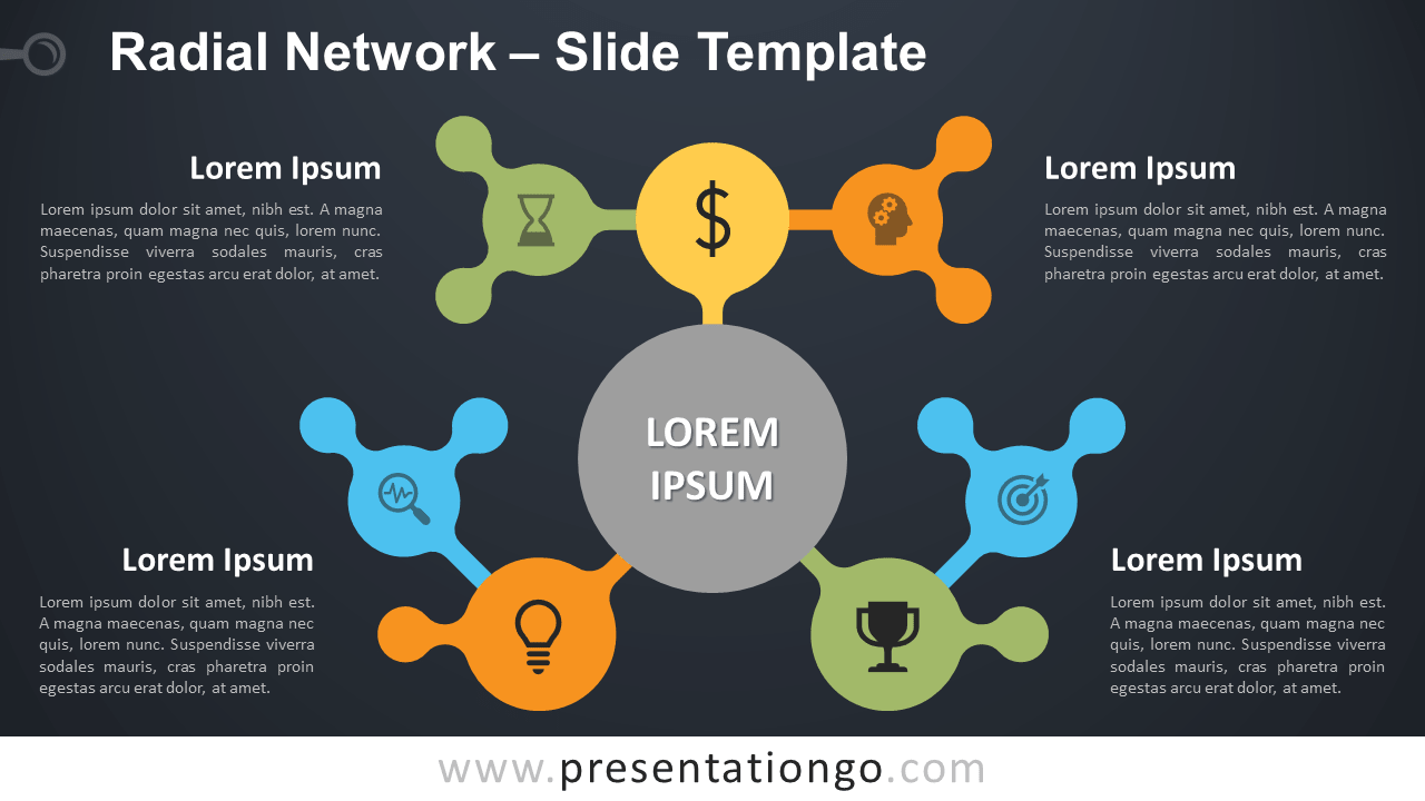 Free Radial Network Diagram for PowerPoint and Google Slides