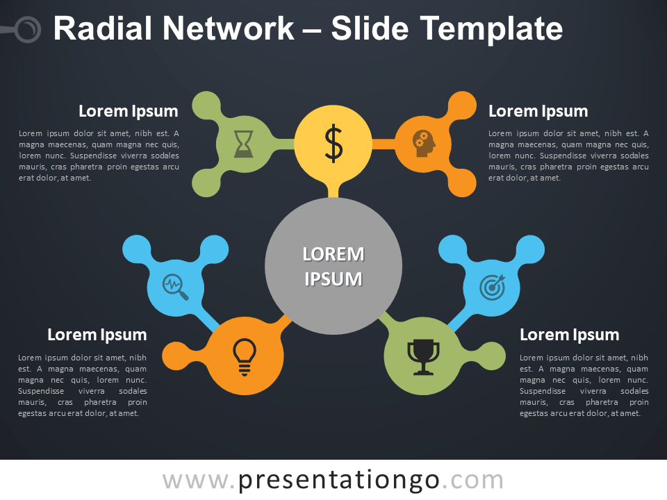 Free Radial Network Diagram for PowerPoint