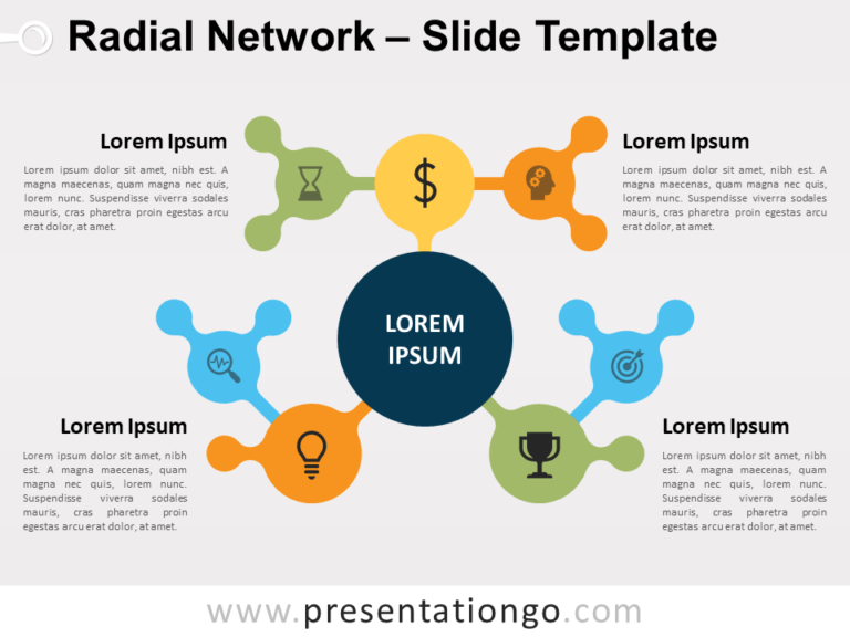 Free Radial Network for PowerPoint