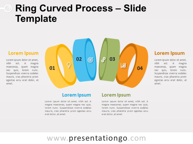 Free Ring Curved Process Infographic for PowerPoint