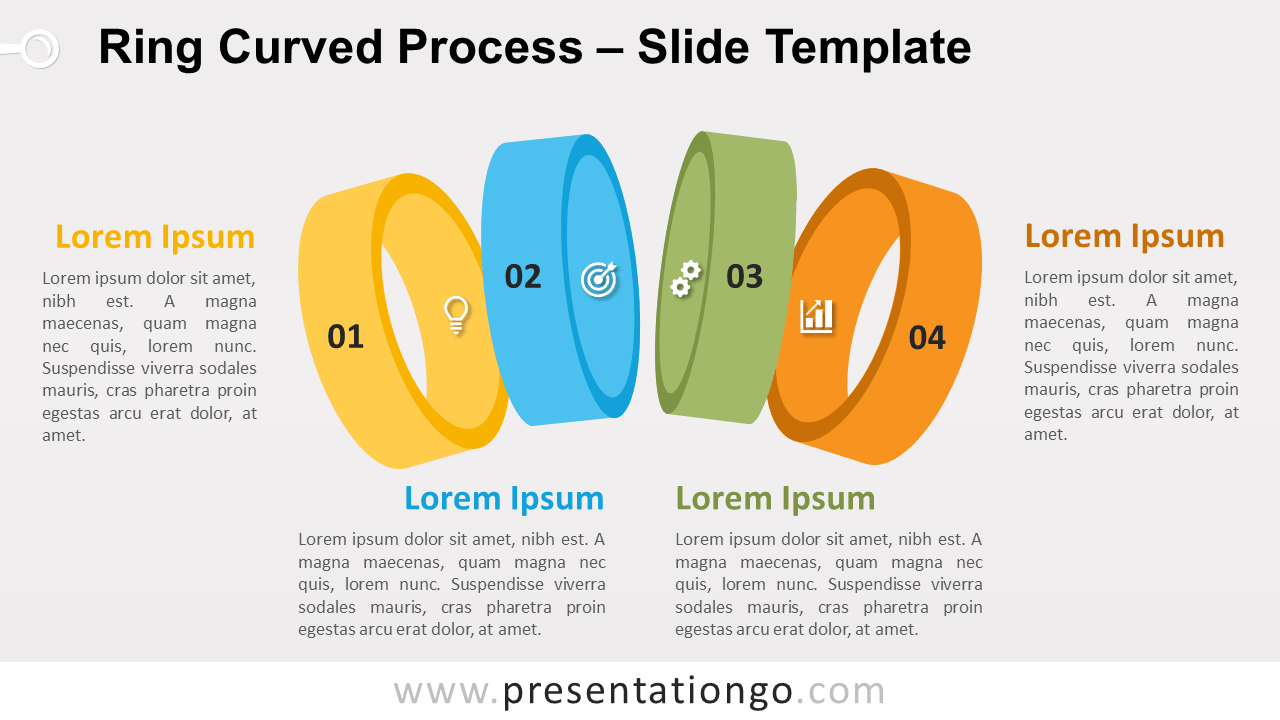 Free Ring Curved Process Infographic for PowerPoint and Google Slides