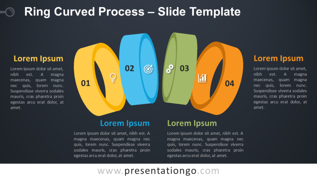 Free Ring Curved Process Template for PowerPoint and Google Slides