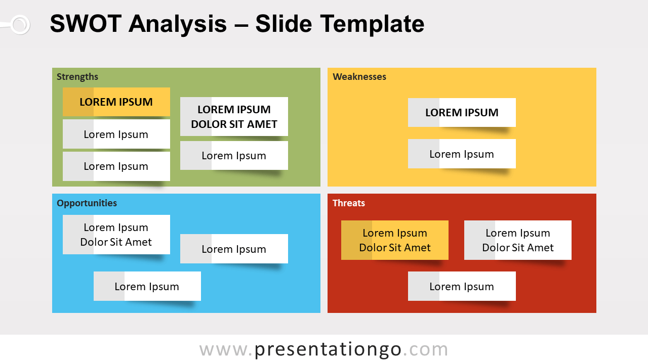 Free SWOT Analysis Template for PowerPoint and Google Slides