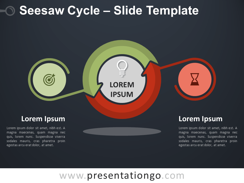Free Seesaw Cycle Diagram for PowerPoint