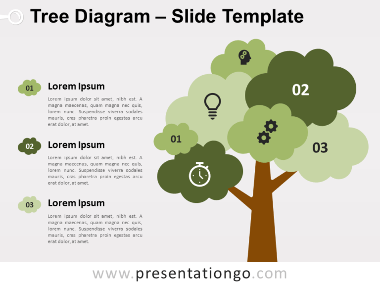 Free Tree Diagram Infographic for PowerPoint