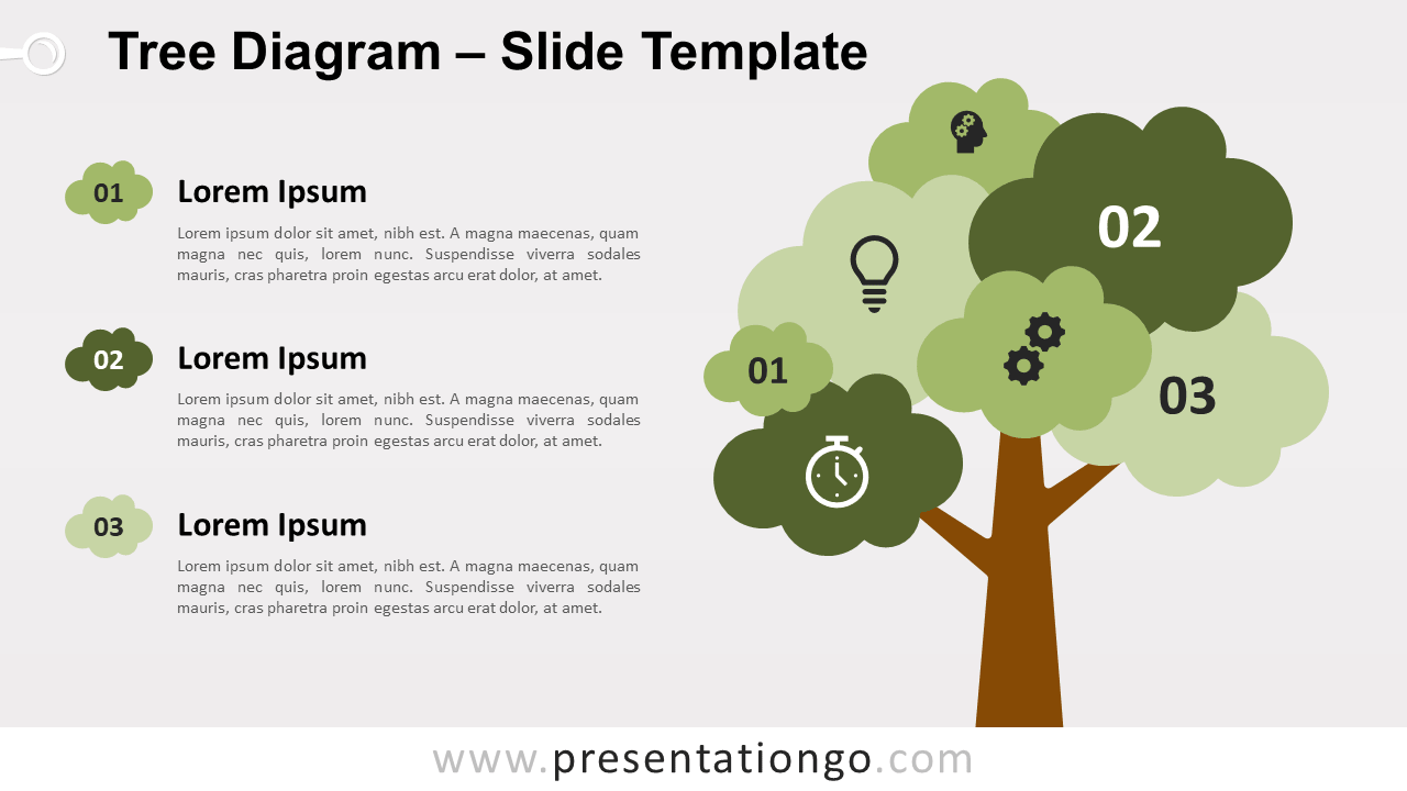 Free Tree Diagram Infographic for PowerPoint and Google Slides