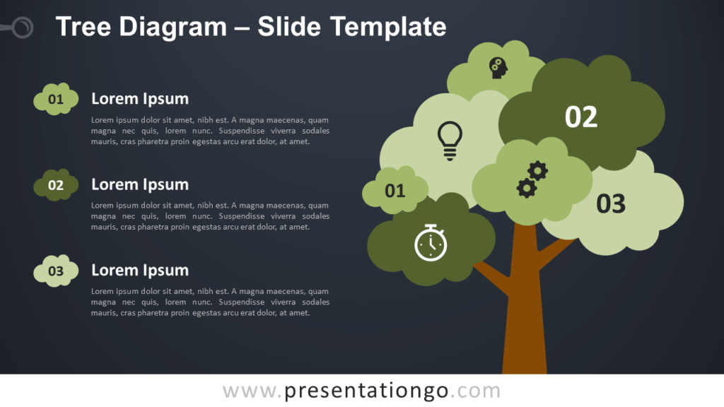 Free Tree Diagram Template for PowerPoint and Google Slides
