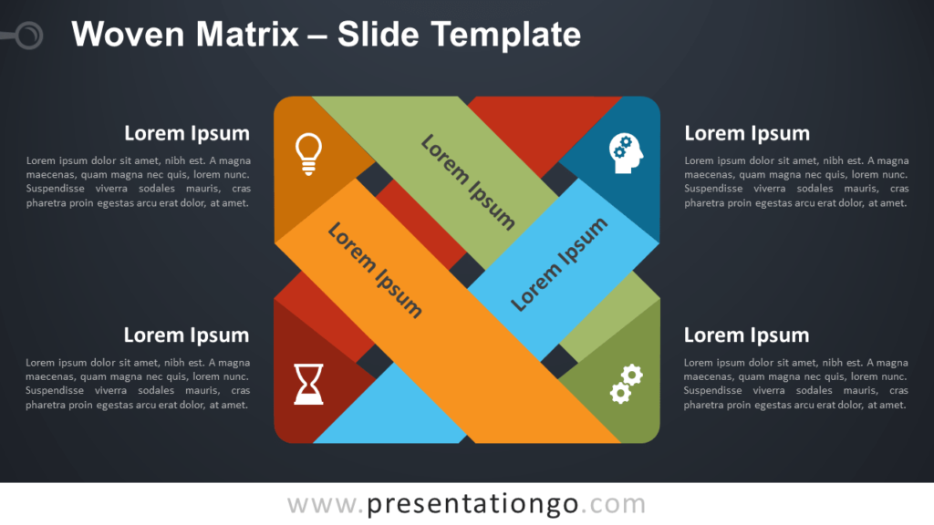 Free Woven Matrix Diagram for PowerPoint and Google Slides