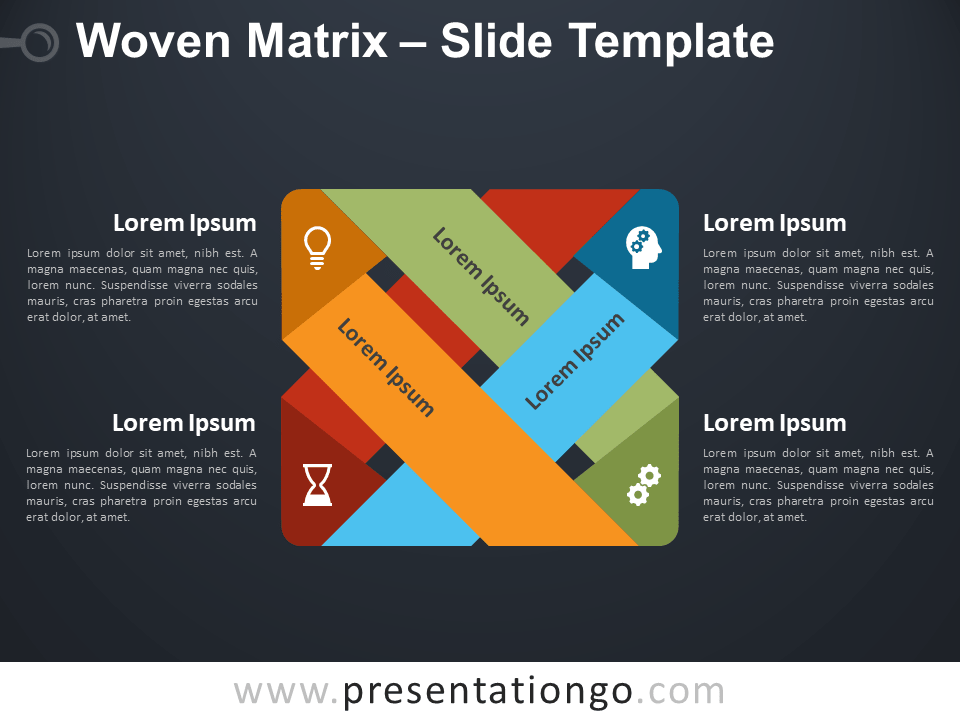 Free Woven Matrix Diagram for PowerPoint