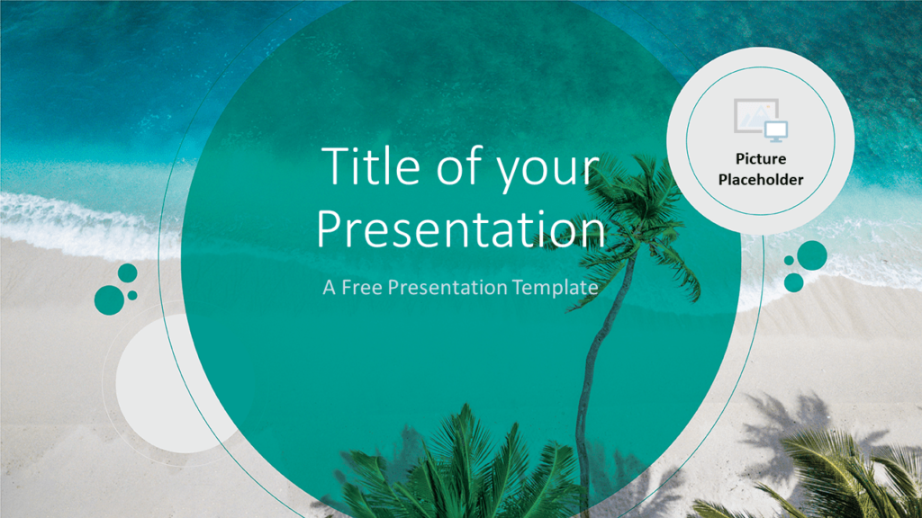 Free Beach Template for Google Slides - Cover
