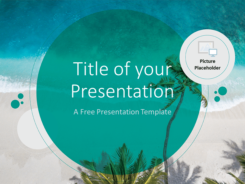 Free Beach Template for PowerPoint - Cover