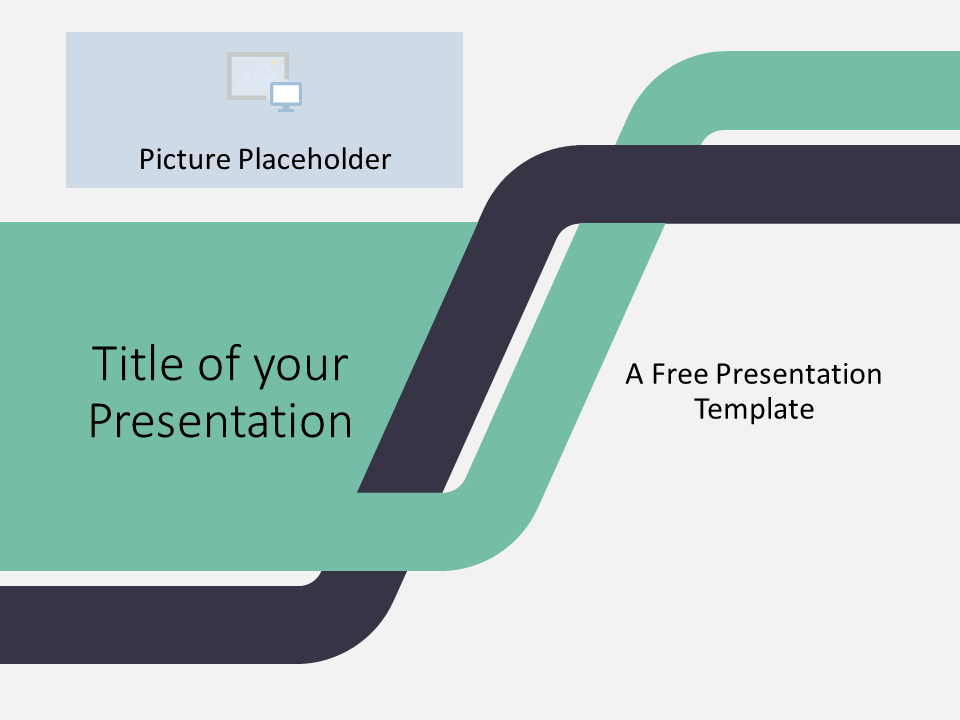 Free Sigmoid Abstract Template for PowerPoint - Cover Slide