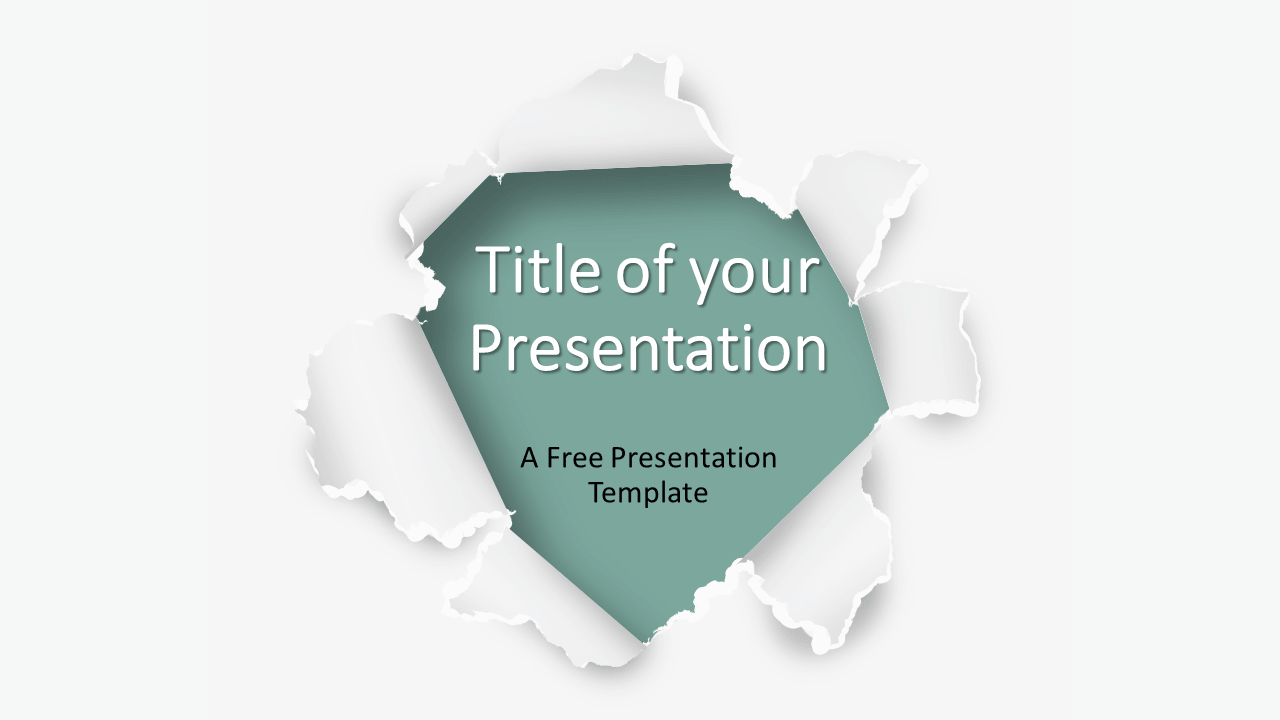 Free Torn Paper Creative Template for Google Slides - Cover