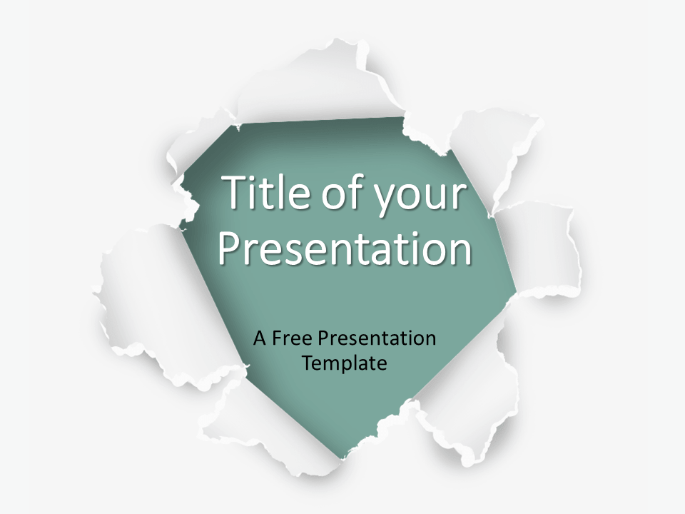 Free Torn Paper Creative Template for PowerPoint - Cover