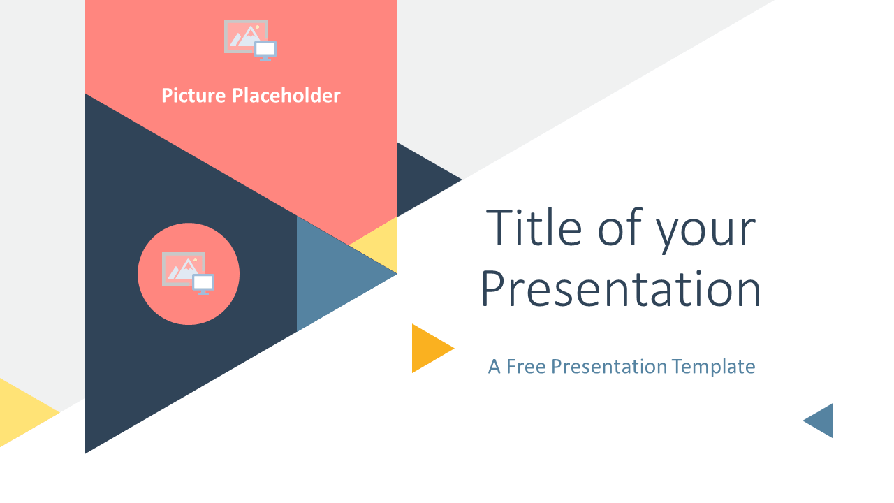 Free Triangle Modern Template for Google Slides - Cover