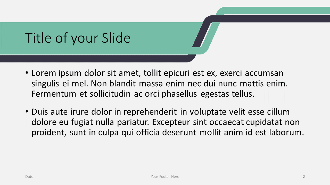 Free Sigmoid Abstract Template for Google Slides - Content (variant 1)