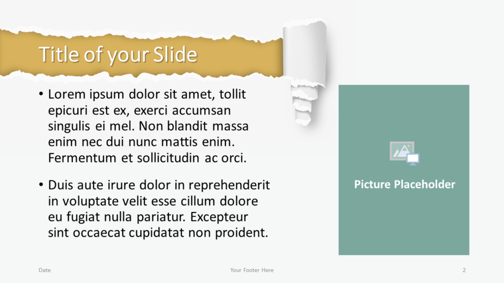 Free Torn Paper Creative Template for Google Slides - Title Content (variant 1)