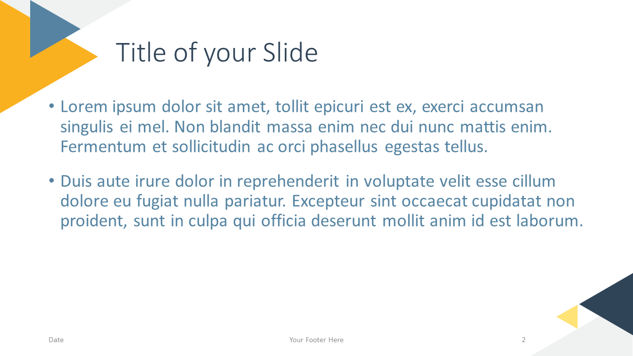 Free Triangle Modern Template for Google Slides - Title Content (variant 1)