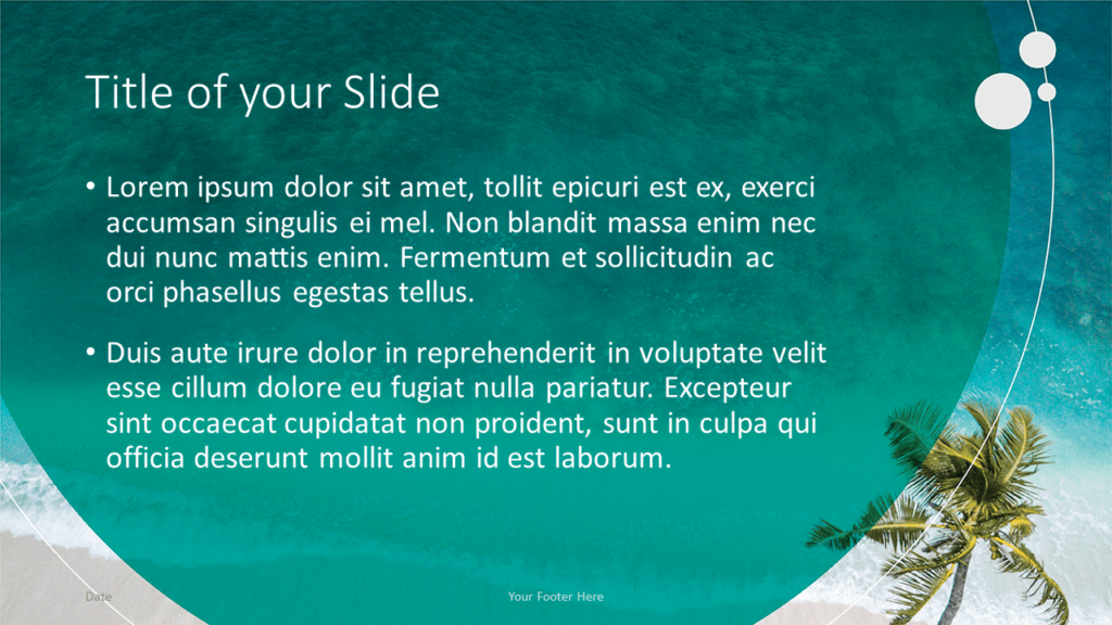 Free Beach Template for Google Slides - Title and Content (variant 2)