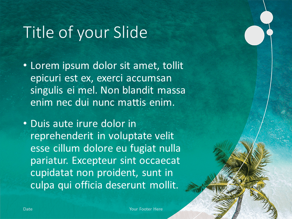 Free Beach Template for PowerPoint - Title and Content (variant 2)