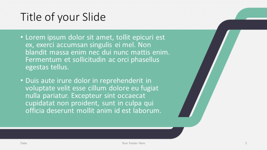 Free Sigmoid Abstract Template for Google Slides - Title and Content (variant 2)
