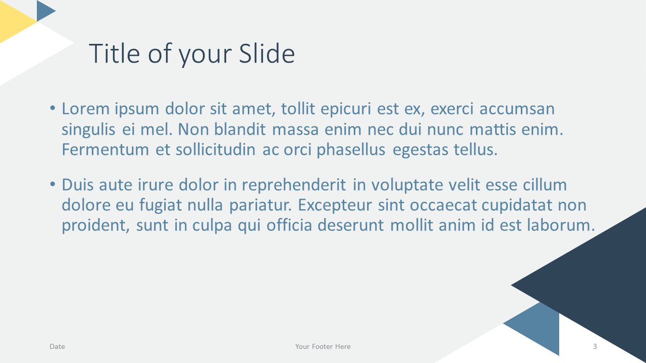 Free Triangle Modern Template for Google Slides - Title Content (variant 2)