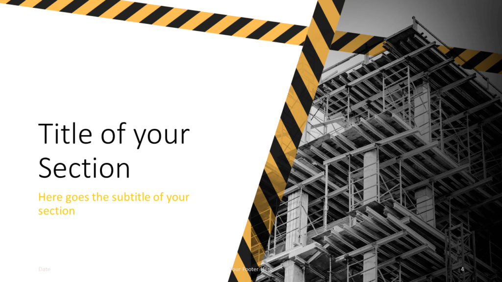 Free Construction Template for Google Slides - Section (variant 1)