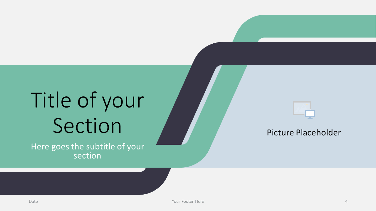 Free Sigmoid Abstract Template for Google Slides - Title Section (variant 1)