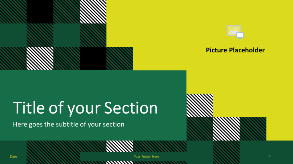 Free TARTAN Abstract Template for Google Slides - Title Section (variant 1)